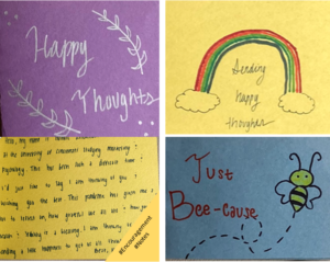 notes of encouragement to homebound seniors